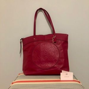 Coach Laura Tote in Berry
